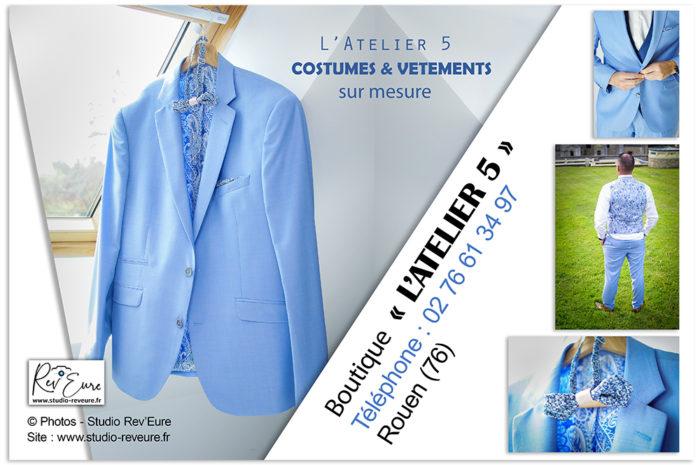L'ATELIER 5 | Costume & Vêtement sur mesure | Mariage | Tailleur et créateur | Rouen (76) | ©Rev'Eure Studio Photographe