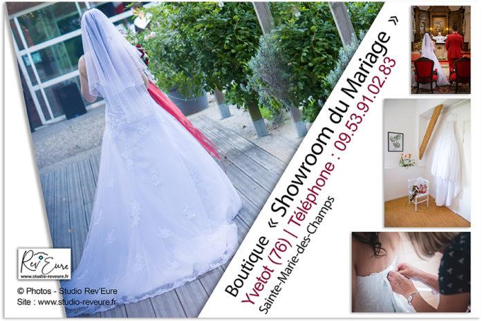 SHOWROOM DU MARIAGE | Boutique – Robe de mariée et Costume | Yvetot – Rouen (76) | ©Studio Rev'Eure photographe